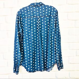 Urban Outfitters Tops - Urban Outfitters BDG Polka Dot Denim Button Down
